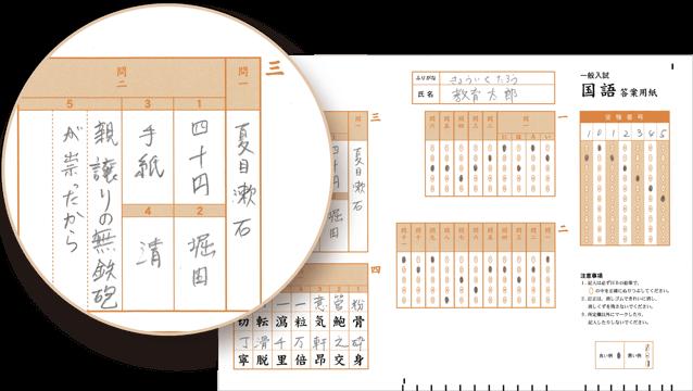 記述式採点-マークシート-記述設問イメージ-拡大図