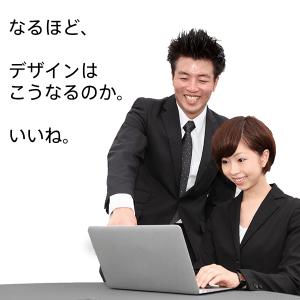 マークシート-デザイン-確認する男性と製作担当の女性