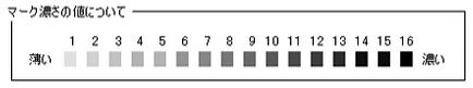 マーク-マーク濃さ-値-16段階