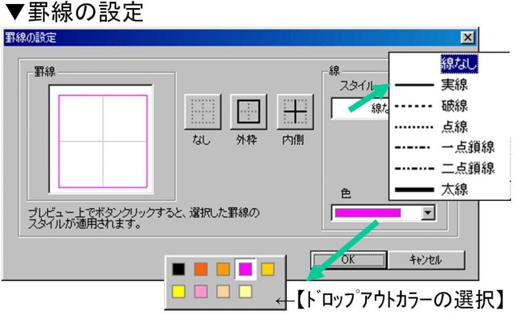 その他ソフト-まるごとシートプリント-便利ツール-罫線の設定