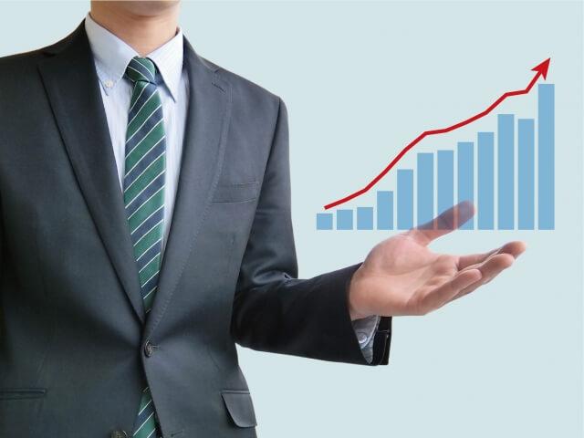 入試・採点-営業マン-グラフイメージ