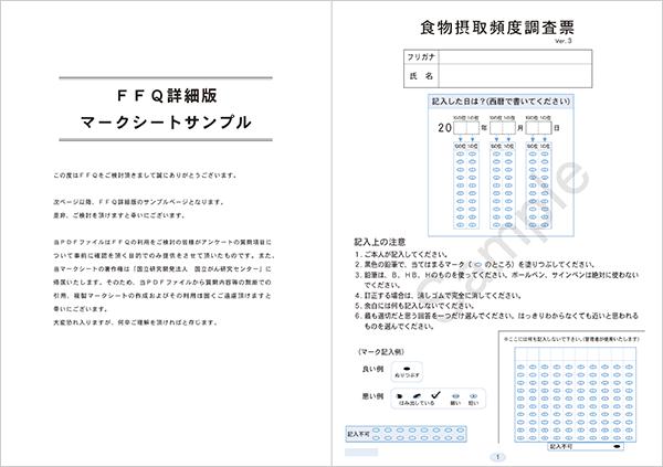 FFQ詳細版(マークシートサンプル)